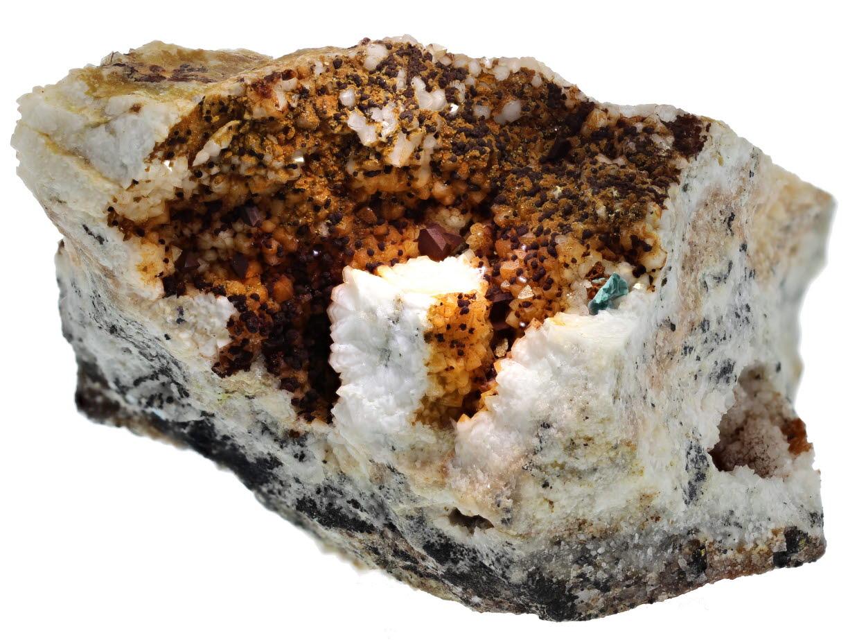 Bariopharmacosiderite With Chalcopyrite & Limonite Psm Marcasite