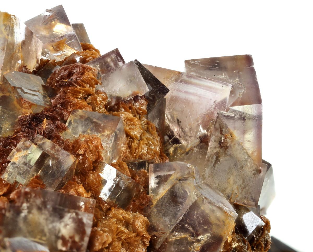 Fluorite On Siderite With Sphalerite