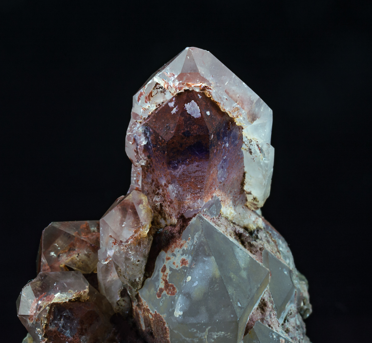 Quartz With Hematite Inclusions