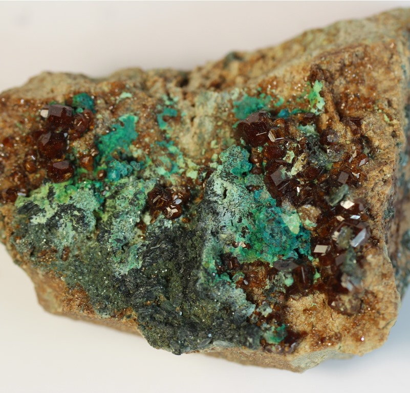 Chrysocolla Hessonite & Clinochlore