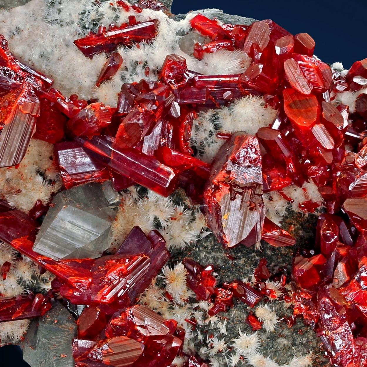 Realgar & Calcite