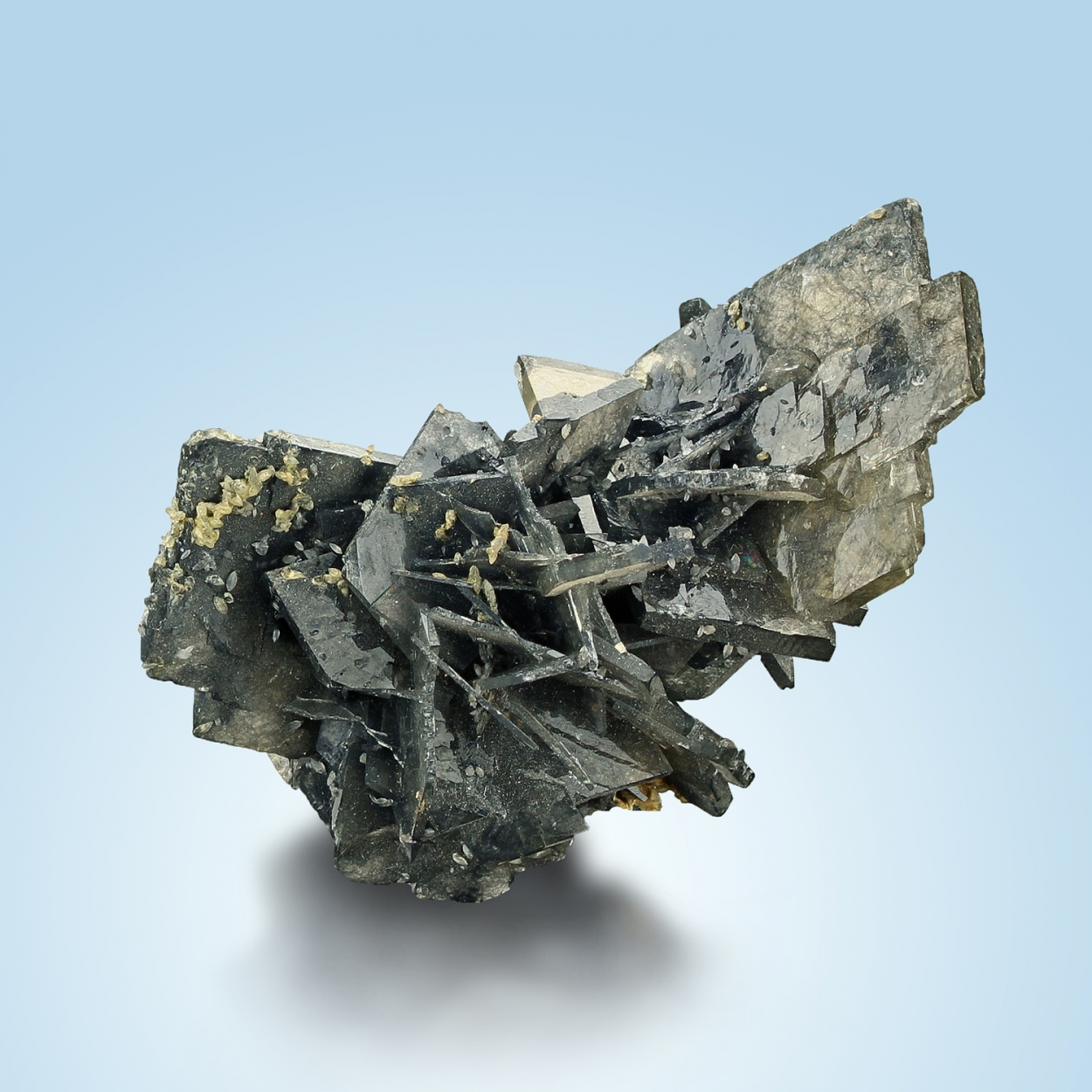Baryte With Boulangerite & Calcite
