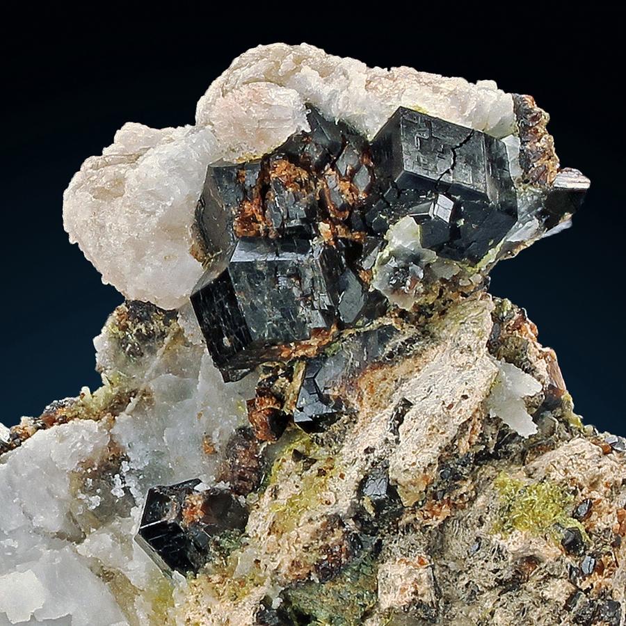 Andradite With Calcite & Epidote & Actinolite