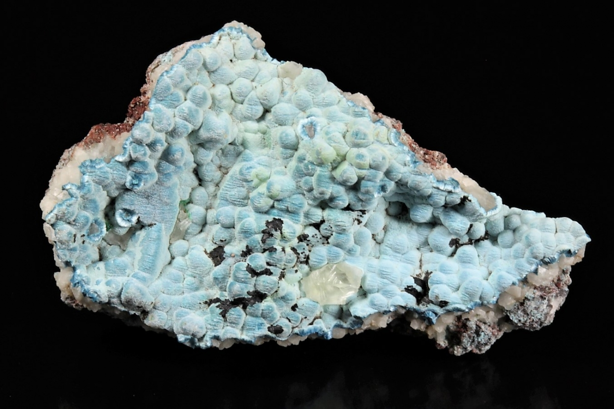 Plancheite With Calcite