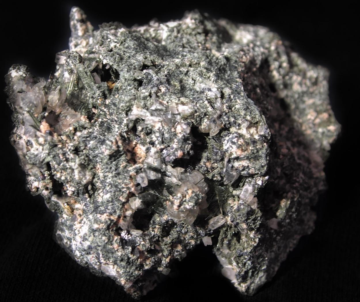 Calcite Ferro-hornblende Pyrite & Ferro-actinolite