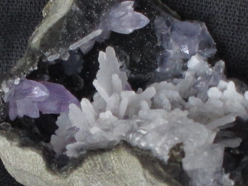 Amethyst With Chalcedony & Calcite