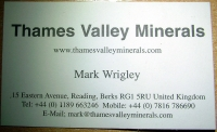 Diaries/Catalogues/Documents/Letters: Thames Valley Minerals