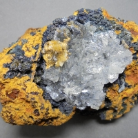 Chalcophanite Hemimorphite & Calcite