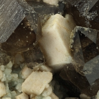 Microcline Smoky Quartz & Albite