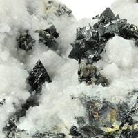 Tetrahedrite & Chalcopyrite Marcasite With Calcite