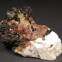Rhodochrosite Genthelvite & Catapleiite