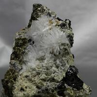 Olshanskyite On Andradite With Magnetite