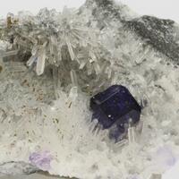 Fluorite On Quartz With Pyrite