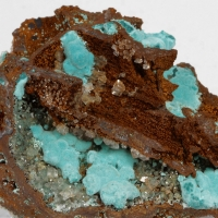 Rosasite & Calcite