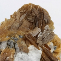 Roweite & Calcite On Andradite With Olshanskyite