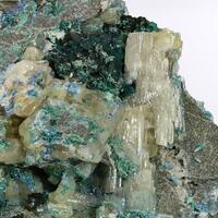 Cerussite With Malachite & Linarite