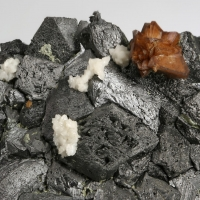 Genthelvite & Dolomite On Magnetite