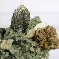 Genthelvite Löllingite & Dolomite On Quartz