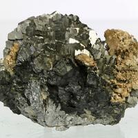 Arsenopyrite With Dolomite On Magnetite On Löllingite