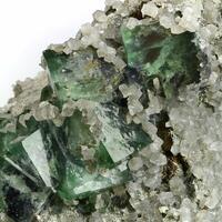 Calcite On Fluorite With Pyrrhotite