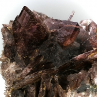 Axinite On Byssolite