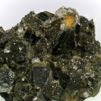 Apophyllite On Diopside