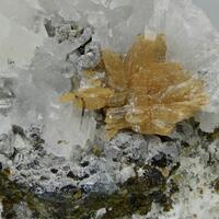 Roweite Calcite Olshanskyite & Andradite
