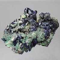 Azurite With Cerussite