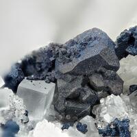 Covellite Chalcopyrite Bariopharmacosiderite & Fluorite