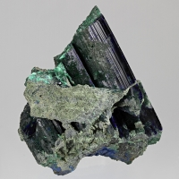 Azurite With Malachite