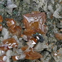 Wulfenite Malachite & Quartz
