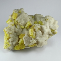 Sulphur With Calcite Psm Aragonite