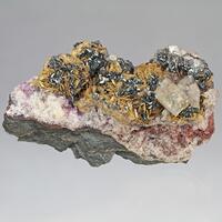 Chalcocite Fluorite & Siderite