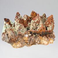 Limonite Psm Calcite & Cuprian Adamite
