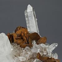 Rock Crystal & Siderite