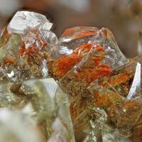 Adamite & Limonite Psm Calcite