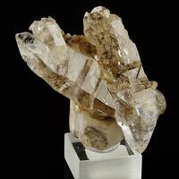 Rutile In Quartz On Calcite