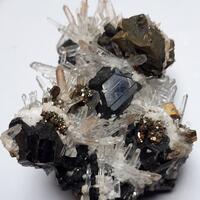 Quartz & Sphalerite & Chalcopyrite