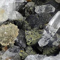 Hemimorphite Sphalerite & Calcite