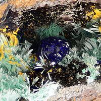 Azurite Delafossite Malachite