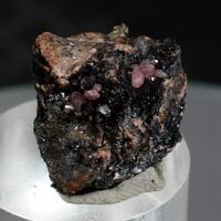 Native Silver & Rhodochrosite