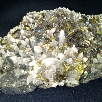 Galena With Sphalerite & Chalcopyrite & Quartz