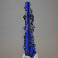 Azurite On Psm Goethite