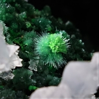 Adamite Malachite Conichalcite Zincolivenite Aragonite On Psm Goethite