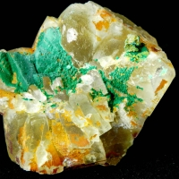 Malachite On Fluorite