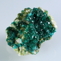 Dioptase & Duftite On Calcite