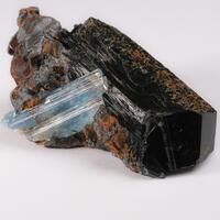 Aquamarine Schorl & Goethite Psm Siderite