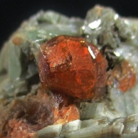 Hessonite Diopside & Feldspar