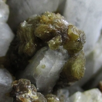 Siderite On Quartz Sphalerite & Pyrite