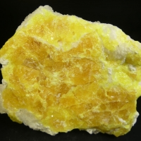 Calcite On Native Sulphur